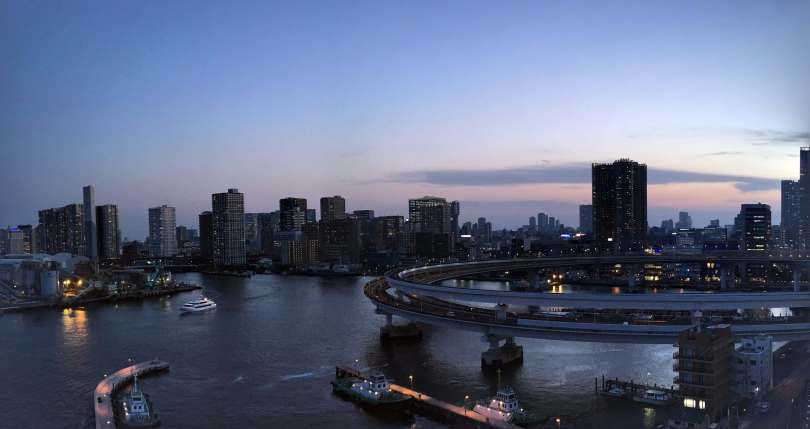 City in Sunset from Rainbow Bridge
