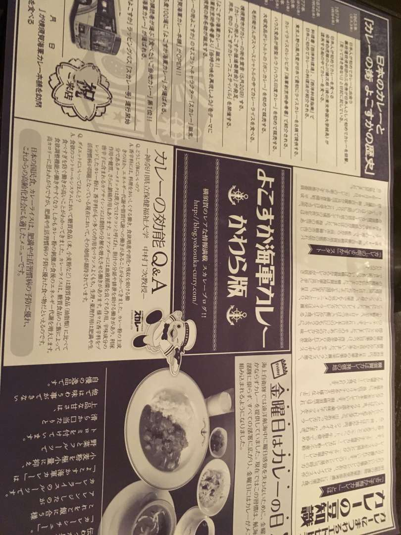 newspaper about navy curry