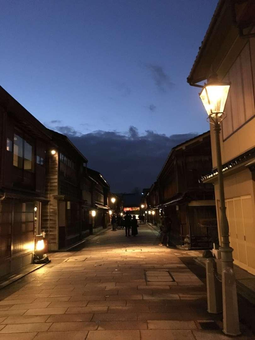 Geisha Area in the night